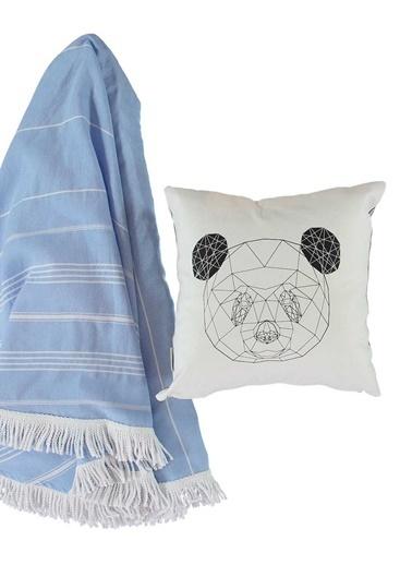 Sade'ce Dekoratif Yastık Beyaz